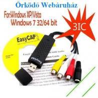 Usb digitalizáló Easycap DC60+ v3.1B Mac os, Vista, Win7 64bit